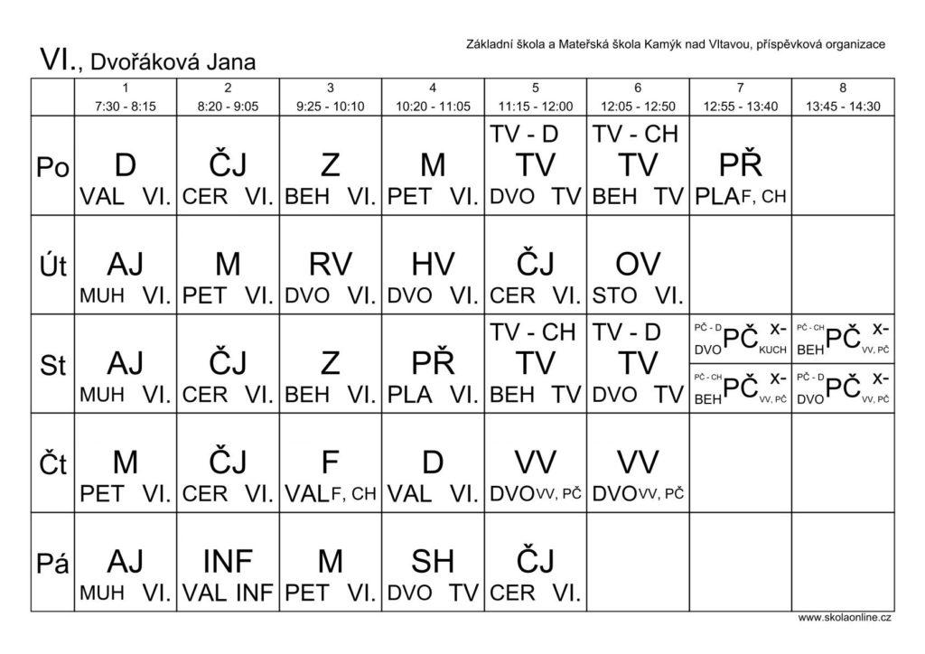 VI. třída, Jana Dvořáková